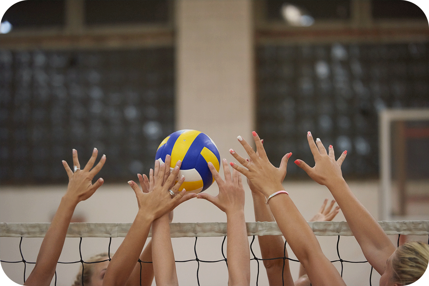 Volleyball Hands at Net